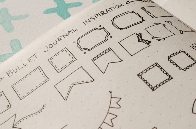 Bullet Journal Inspiration – Banners & Dividers