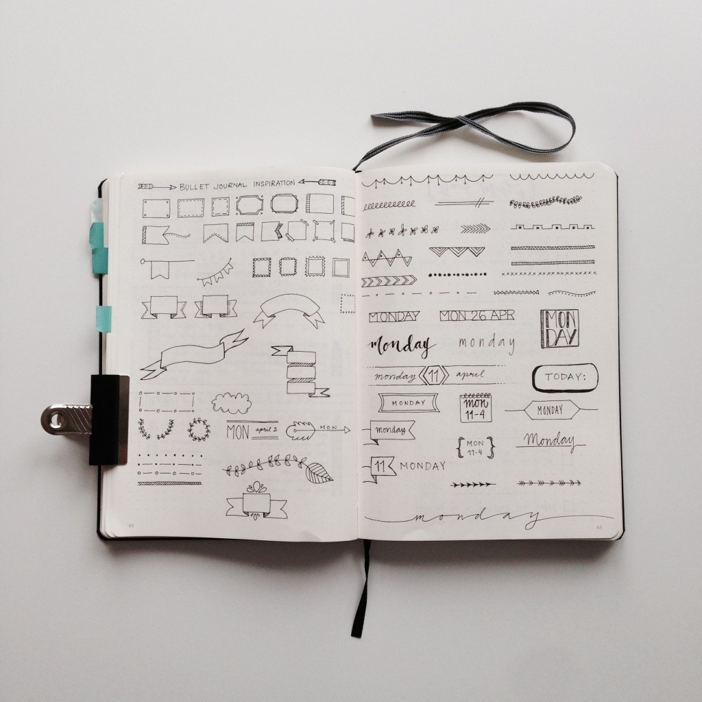 Bullet journal design inspiration
