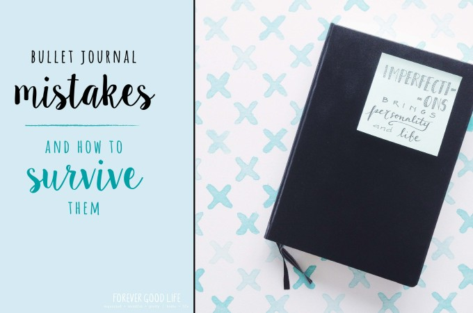 Bullet Journal Mistakes + how to survive them