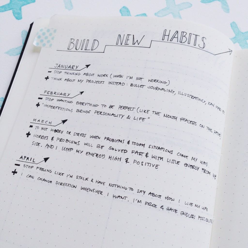 Bullet Journal Mistakes - Build New Habits