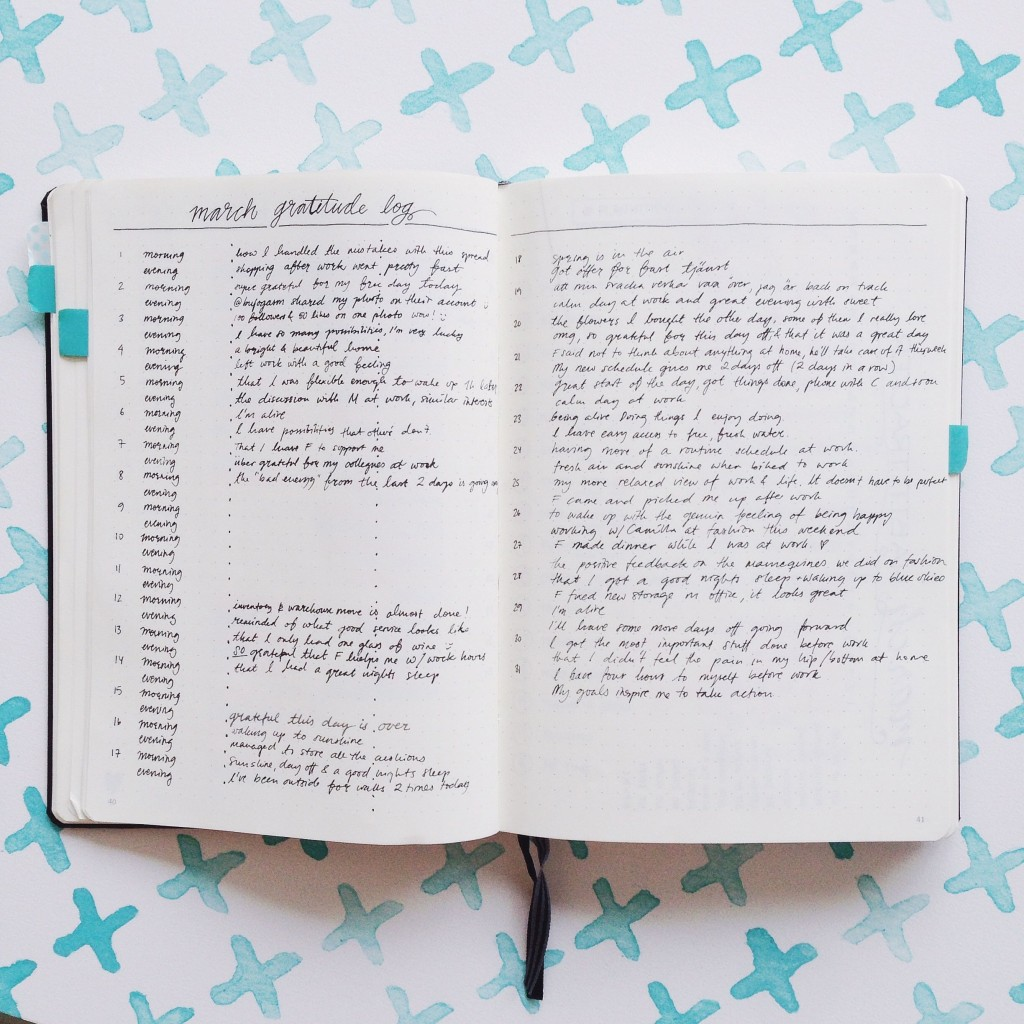 Bullet Journal Mistakes - Gratitude journal
