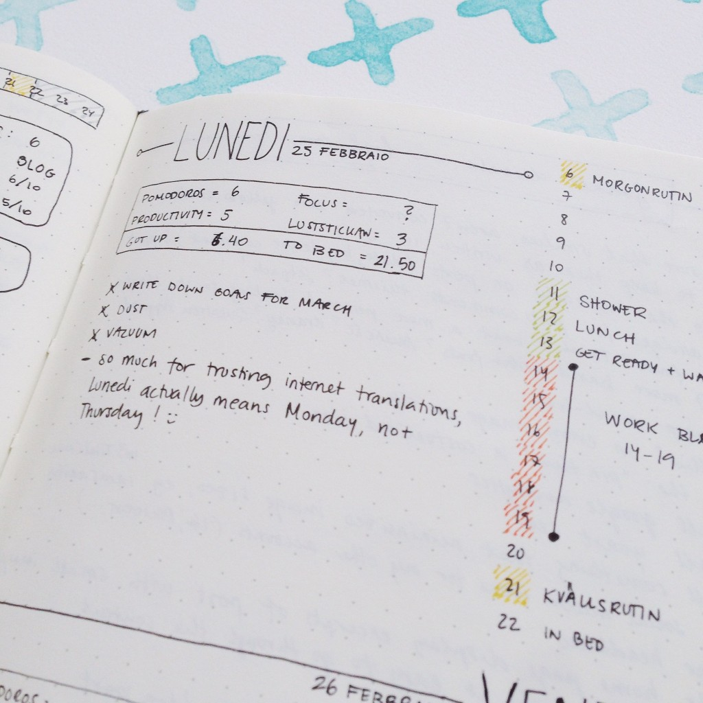 Bullet Journal Mistakes - wrong italian translation