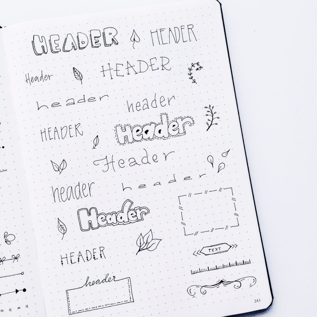 Cute Bullet Journal Planner Doodles