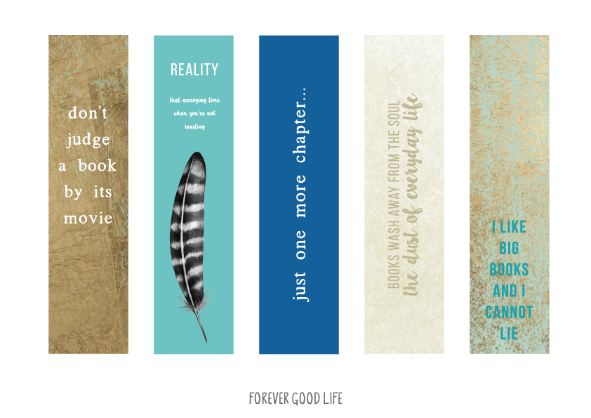 Bookmarks - free printables