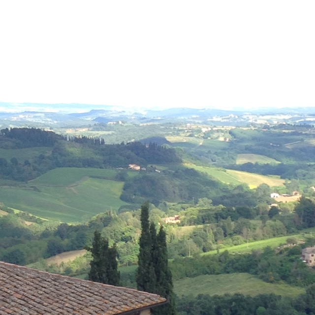 View of Tuscany from San Gimignano