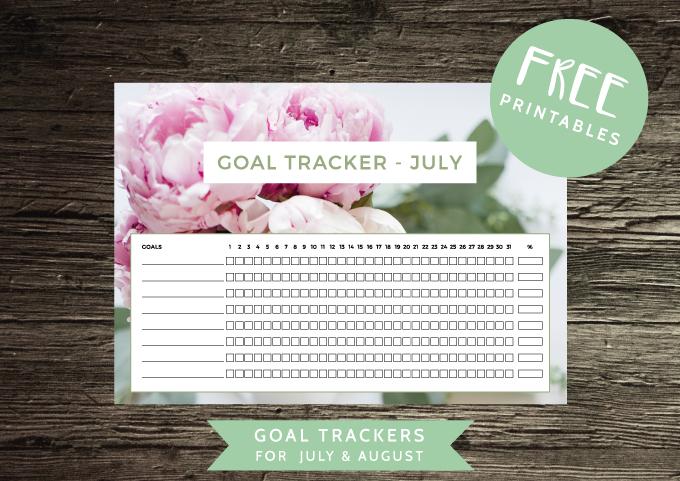 ForeverGoodLife - Free Printables - Goal Tracker
