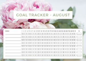 ForeverGoodLIfe - Free Download - Goal Tracker August