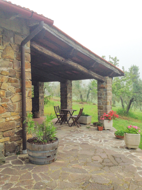 Our patio in Italy