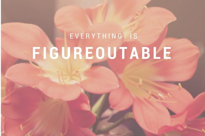 Everything is figureoutable - Inspirational Quote from Marie Forleo