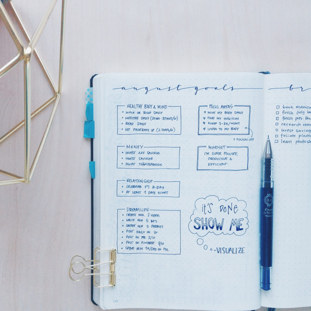 How to handle overwhelm - BulletJournal Monthly Focus Area - ForeverGoodLife