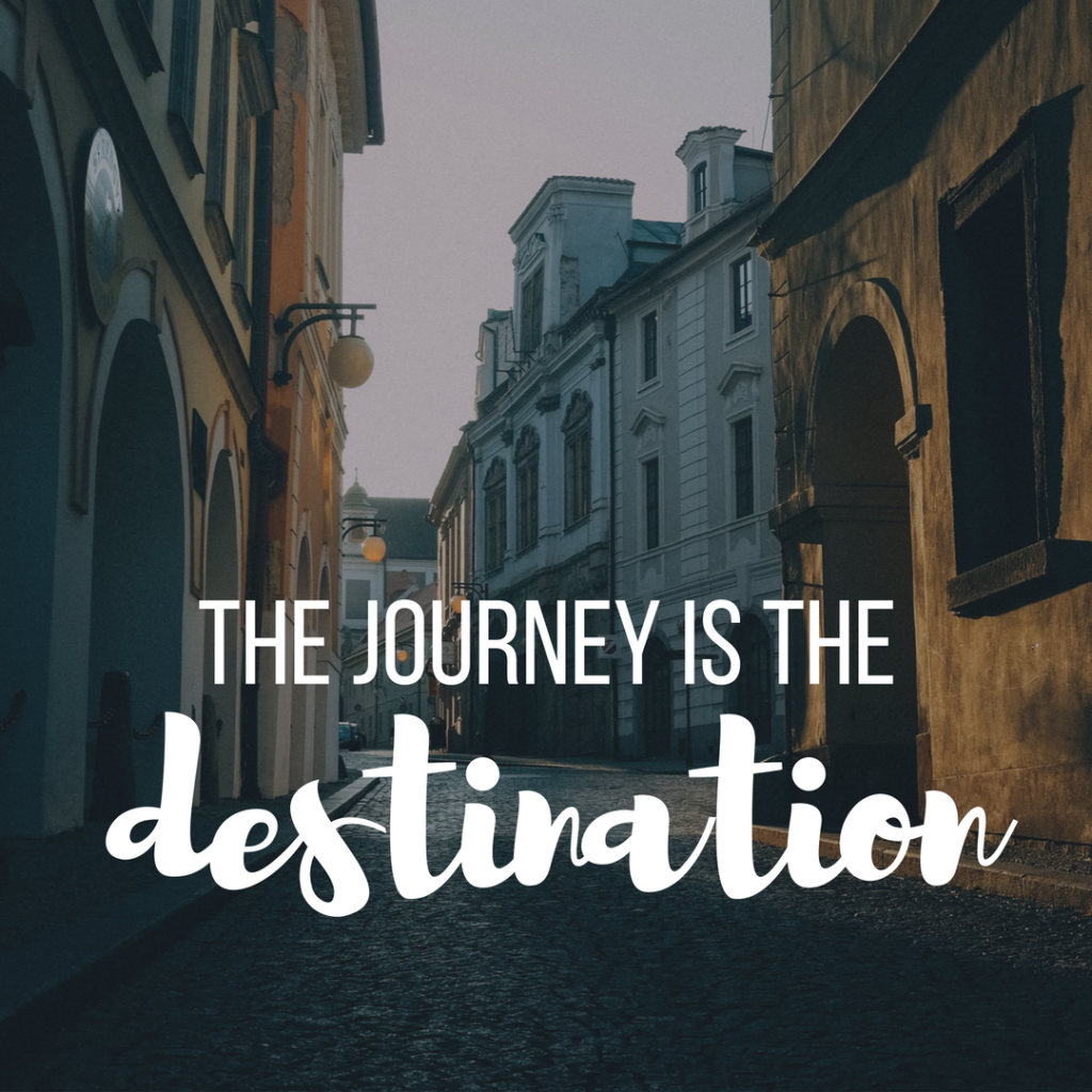 Inspirational Quote - The journey is the destination