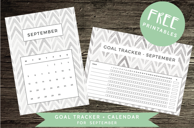 Free Downloads: Calendar + Goal Tracker