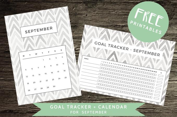 Free Downloads - Calendar and Goal Tracker for September - ForeverGoodLife