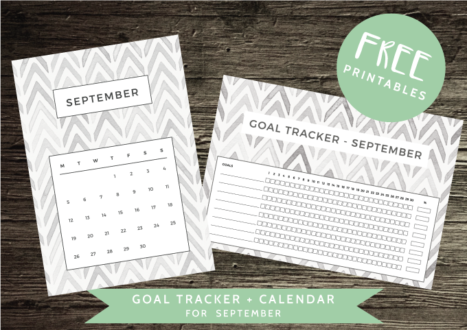 Free Downloads - Calendar and Goal Tracker for September - ForeverGoodLife
