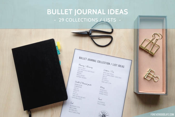 Bullet journal ideas – 29 Collections / Lists