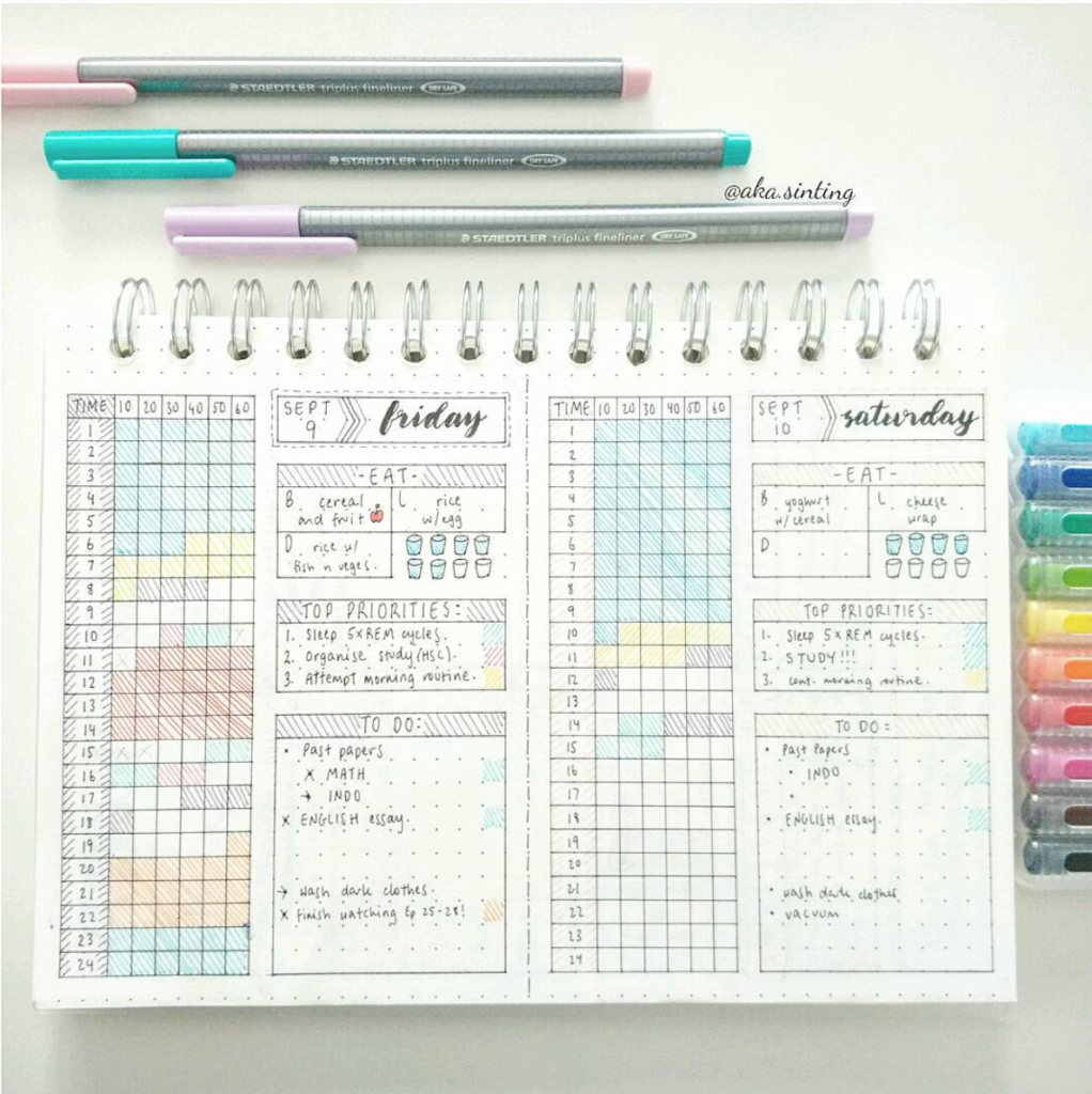 Bullet journal daily spread ideas and inspiration for Daily photo ideas