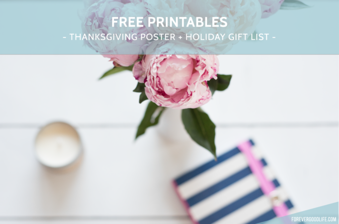 Free Printables – Thanksgiving Poster & Christmas Gift List