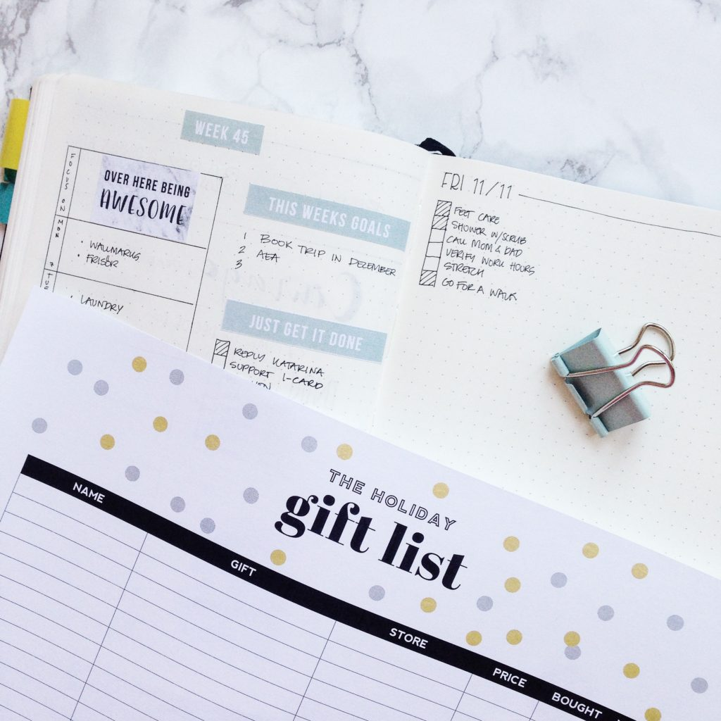 Free Printable Christmas Holiday Gift List