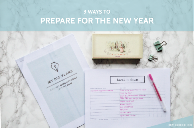 3 ways to prepare for the new year 2017 - Printable PDF on Etsy - ForeverGoodLIfe
