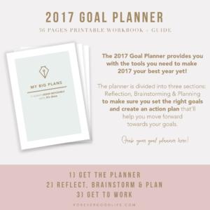 2017 Goal Planner - Goal Setting - New Years Resolutions - ForeverGoodLife