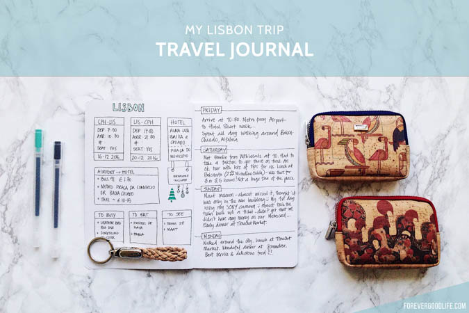 Bullet Journal Travel Journal - My Lisbon Trip - ForeverGoodLife