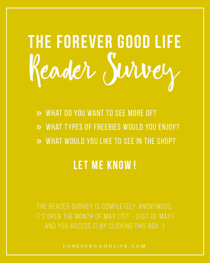 Reader Survey - ForeverGoodLife