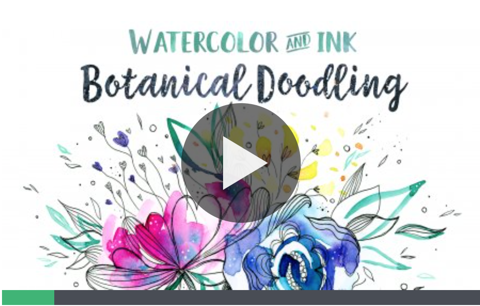 How to draw + doodle ideas + creative inspiration classes you can view for free: botanical drawings + handlettering courses you definitely should check out - By ForeverGoodLife