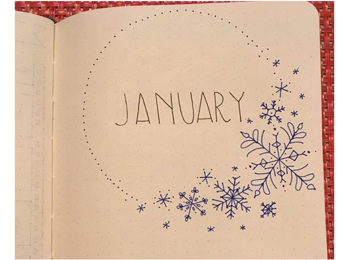 winter theme bujo front cover designs forevergoodlife