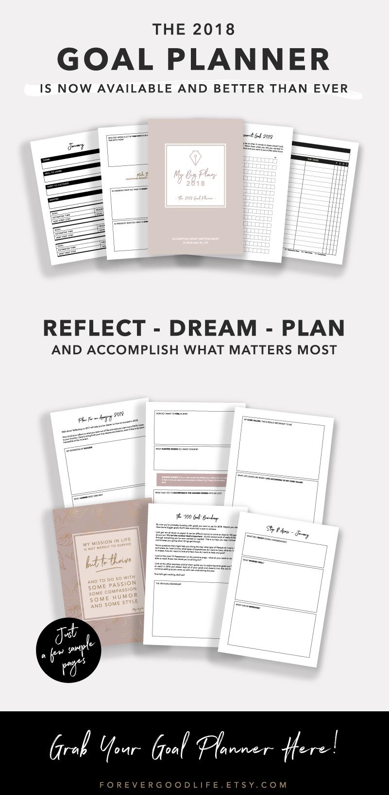 2018 Goal Planner - By ForeverGoodLife