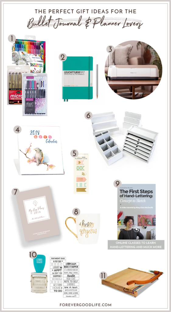 2017 Gift Ideas for Planner Lovers and Bullet Journal Lovers - By ForeverGoodLife