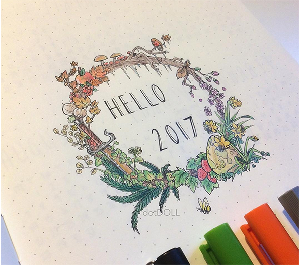 Bullet Journal And The New Year - Artoferbest - By ForeverGoodLife