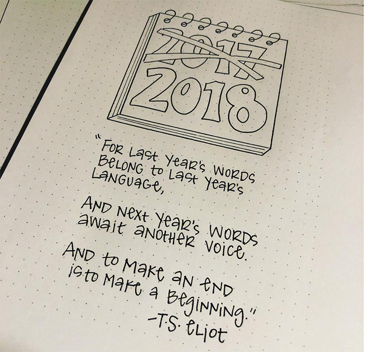 Bullet Journal And The New Year - Nerdy Teacher - By ForeverGoodLife