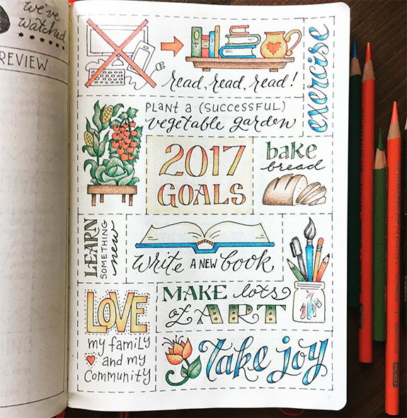 Bullet Journal And The New Year - jtraftonart - By ForeverGoodLife