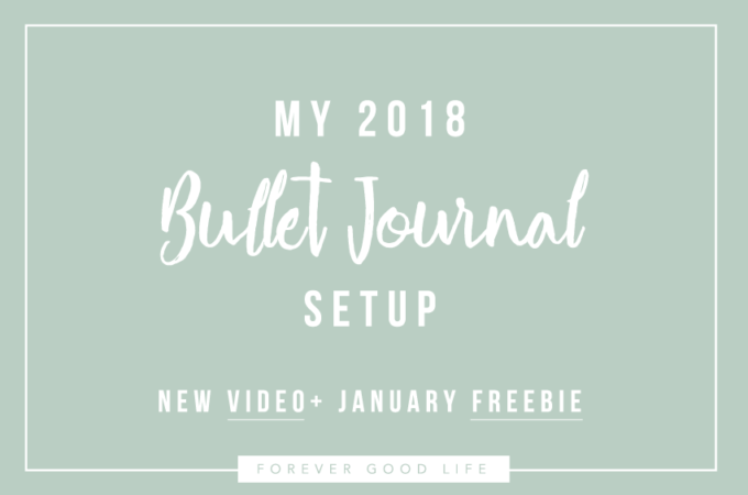 My 2018 Bullet Journal Setup + January Freebie