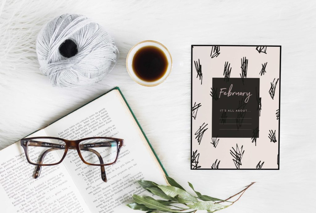 February Free Printable - Write down your February goals - By ForeverGoodLife