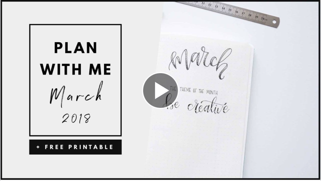 Plan With Me March Bullet Journal Layout - By ForeverGoodLife