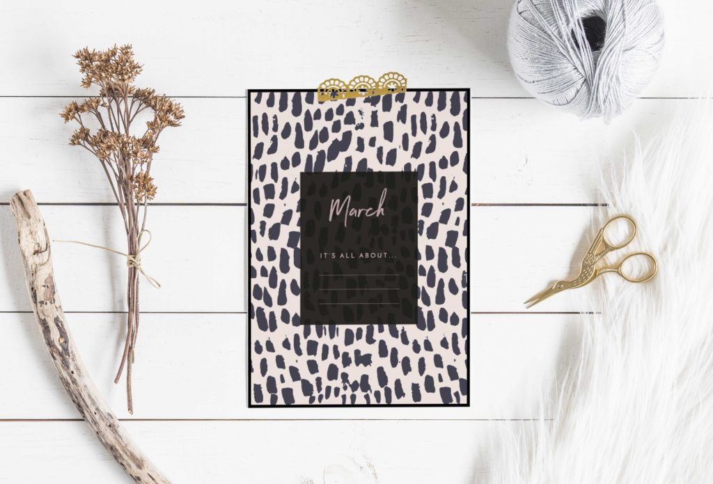 March Freebie #2 - Write your theme or February goals on this poster - By ForeverGoodLife
