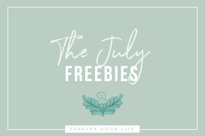 The July Freebies – Habit Tracker & Goals Printable