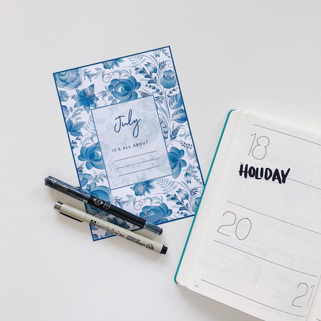 July Free Printable Goals Page - From ForeverGoodLife