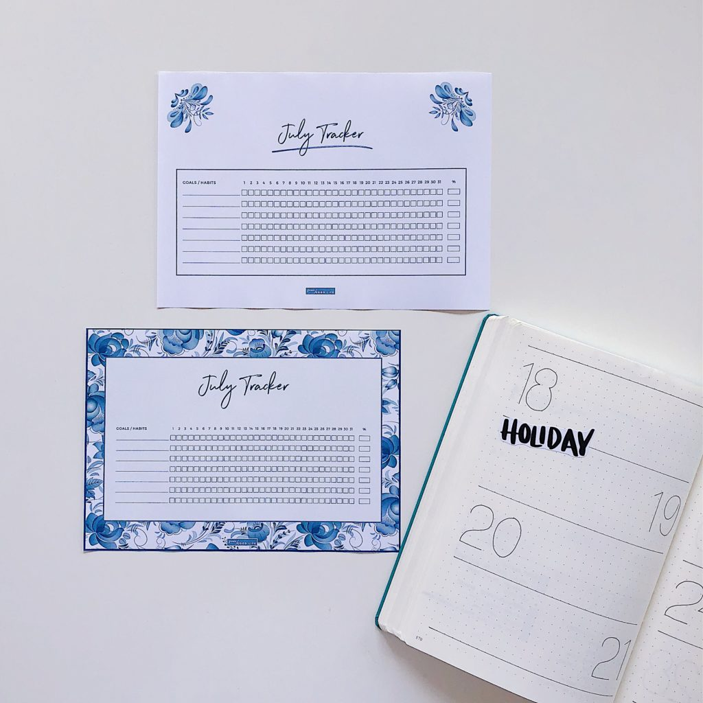 July Free Printable Habit Tracker - From ForeverGoodLife