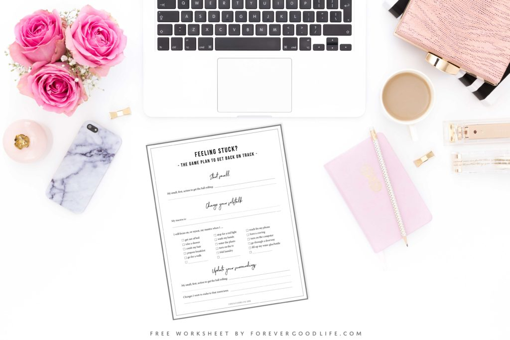 The Worksheet Game Plan To Get Unstuck - by ForeverGoodLife