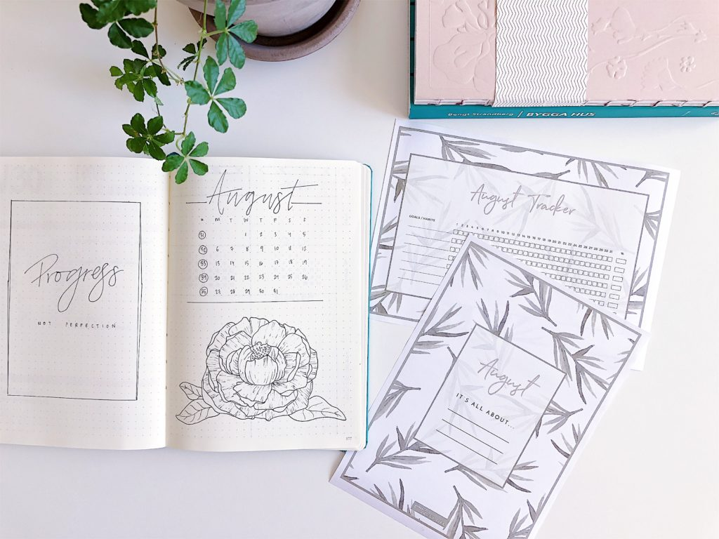 August Habit Tracker Free Printable + August Goals Layout - Free Printables by ForeverGoodLife