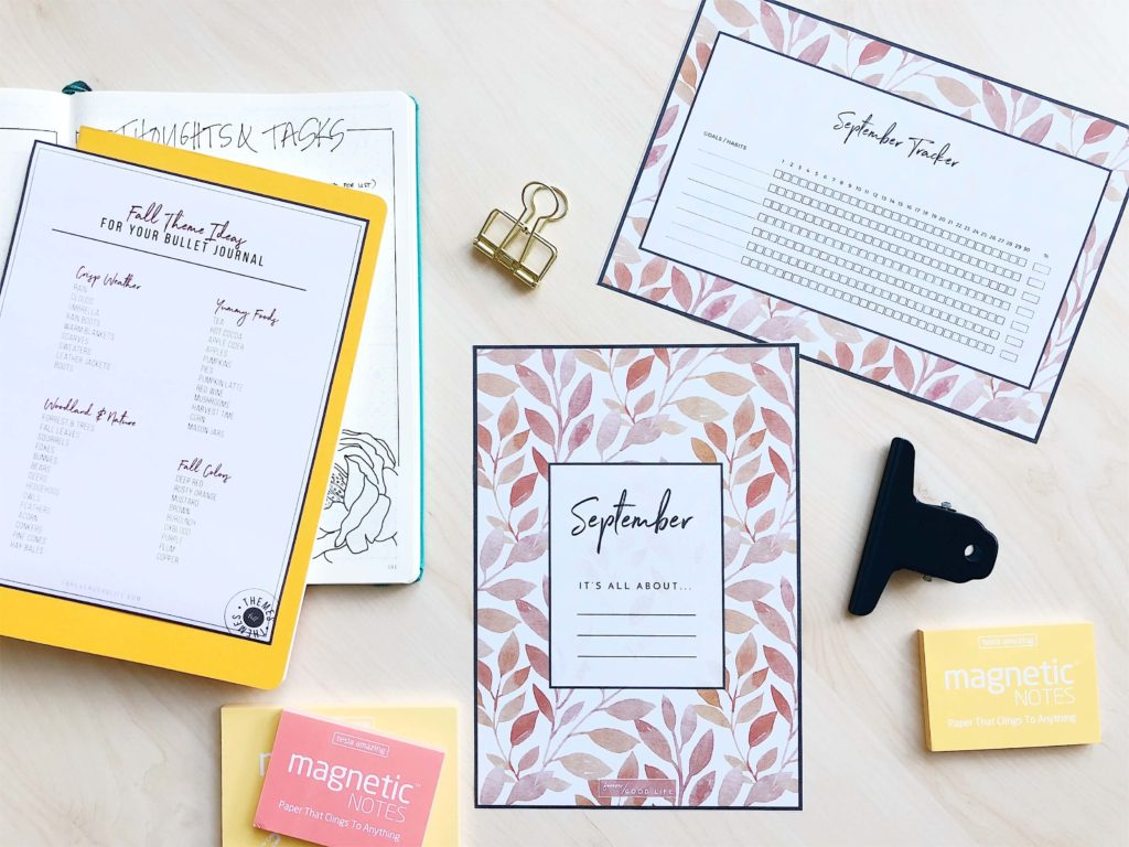 September Goal Setting and Habit Tracker Freebies - by ForeverGoodLife