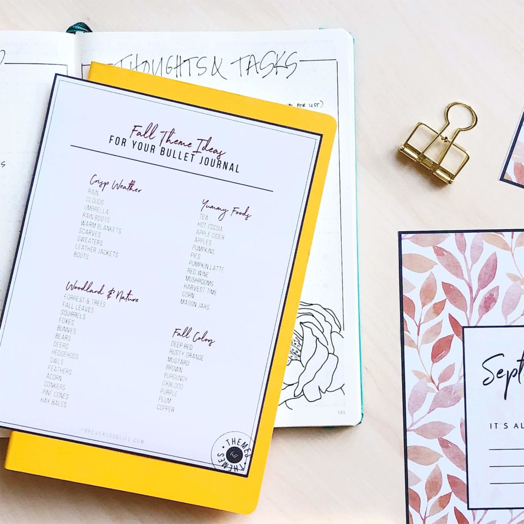 44 Fall Theme Ideas For Your Bullet Journal - BuJo inspiration + Freebie from ForeverGoodLife