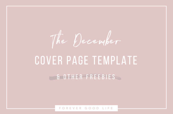 The December Cover Page Template (& other freebies)