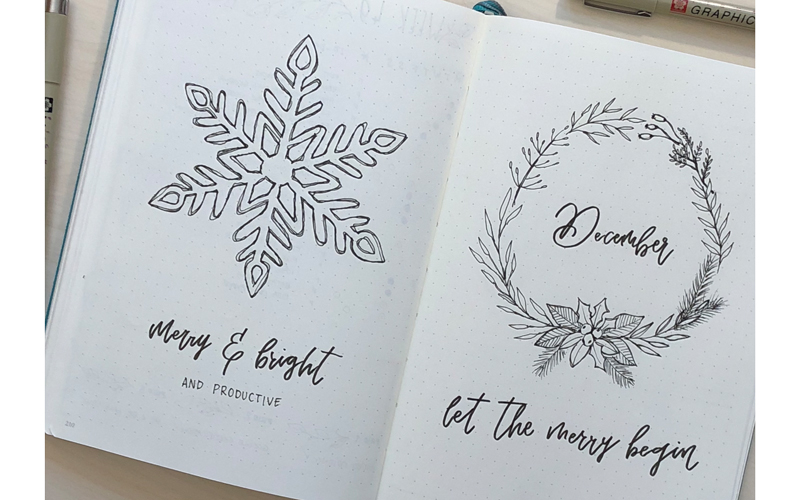 December Cover Page Design with use of the template - Free Printable from ForeverGoodLife