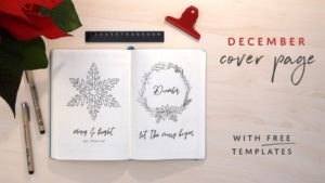 December Cover Page using Templates - The Video