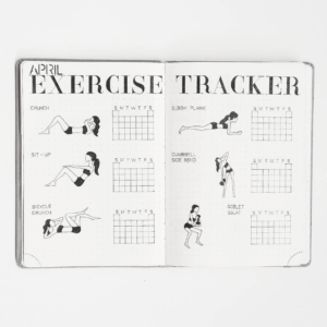 bullet journal exercise tracker by aimighani