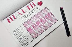 Bullet Journal health tracker idea