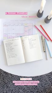 Ideal Week Planner filled out - Freebie from ForeverGoodLife
